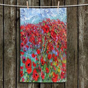 Unique Bathroom Towels | Karen Tarlton - Poppy Field | Flower Nature