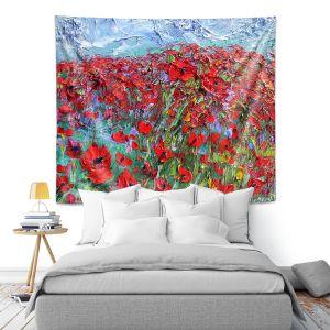 Artistic Wall Tapestry   Karen Tarlton - Poppy Field   Flower Nature