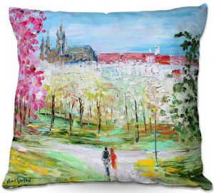 Unique Outdoor Pillow 16x16 from DiaNoche Designs by Karen Tarlton - Prague Castle