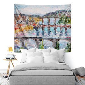 Artistic Wall Tapestry   Karen Tarlton - Prague Sunrise