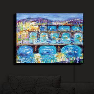 Nightlight Sconce Canvas Light | Karen Tarlton - Prague Sunset | Europe Bridges