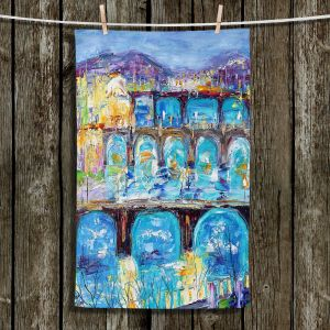 Unique Hanging Tea Towels | Karen Tarlton - Prague Sunset | Europe Bridges