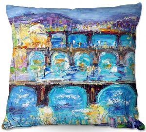 Decorative Outdoor Patio Pillow Cushion   Karen Tarlton - Prague Sunset