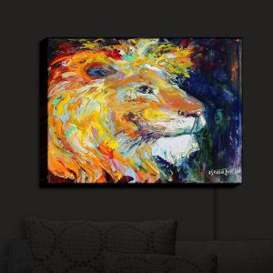 Nightlight Sconce Canvas Light | Karen Tarlton - Proud Lion | Animal