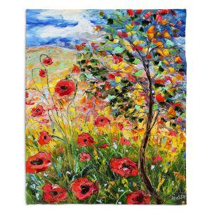 Decorative Fleece Throw Blankets | Karen Tarlton - Provence Poppies