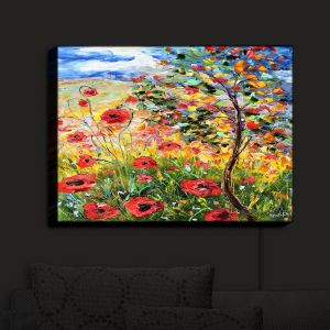 Nightlight Sconce Canvas Light | Karen Tarlton's Provence Poppies