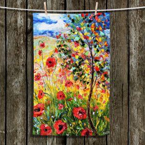 Unique Hanging Tea Towels   Karen Tarlton - Provence Poppies   Landscape Poppy