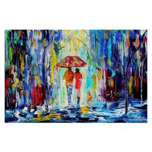 Decorative Floor Coverings | Karen Tarlton Rainy Night Abstract