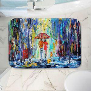 Decorative Bathroom Mats   Karen Tarlton - Rainy Night Abstract