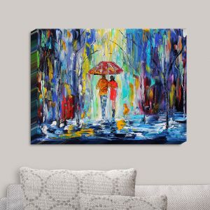 Decorative Canvas Wall Art   Karen Tarlton - Rainy Night Abstract