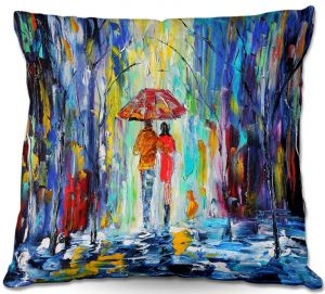 Throw Pillows Decorative Artistic | Karen Tarlton Rainy Night Abstract