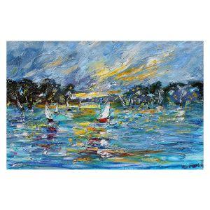 Decorative Floor Covering Mats | Karen Tarlton - Regatta Sailing | Water Boats Nature