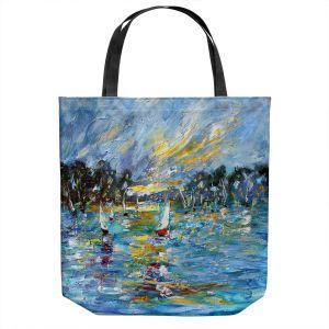 Unique Shoulder Bag Tote Bags | Karen Tarlton - Regatta Sailing | Water Boats Nature
