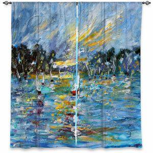 Decorative Window Treatments | Karen Tarlton - Regatta Sailing | Water Boats Nature