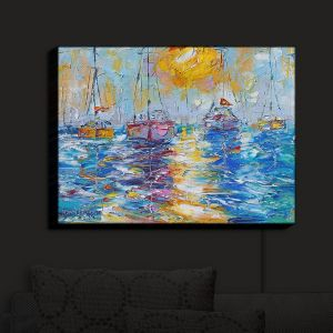 Nightlight Sconce Canvas Light | Karen Tarlton - Sailboats Anchored