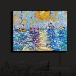 Nightlight Sconce Canvas Light | Karen Tarlton - Sailboats Anchored