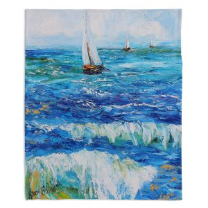 Decorative Fleece Throw Blankets | Karen Tarlton - Sailing Sailboats I
