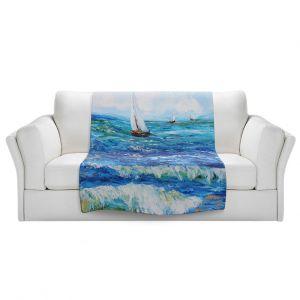 Artistic Sherpa Pile Blankets | Karen Tarlton - Sailing Sailboats I