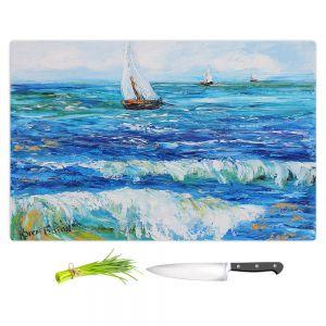 Artistic Kitchen Bar Cutting Boards | Karen Tarlton - Sailing Sailboats I