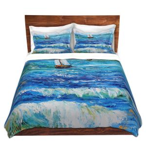 Artistic Duvet Covers and Shams Bedding | Karen Tarlton - Sailing Sailboats I