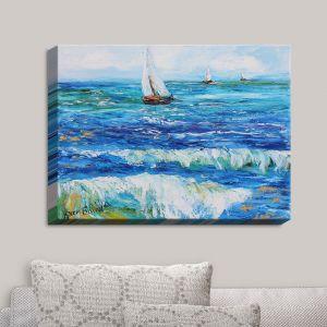 Decorative Canvas Wall Art | Karen Tarlton - Sailing Sailboats I | Boats Water