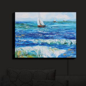 Nightlight Sconce Canvas Light | Karen Tarlton - Sailing Sailboats I | Boats Water