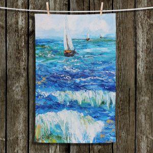 Unique Bathroom Towels | Karen Tarlton - Sailing Sailboats I