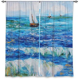 Decorative Window Treatments | Karen Tarlton - Sailing Sailboats I