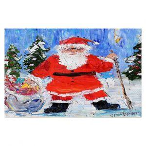 Decorative Floor Covering Mats | Karen Tarlton - Santa 1 | Santa Claus Christmas