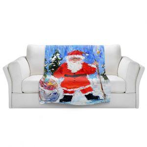Artistic Sherpa Pile Blankets   Karen Tarlton - Santa 1   Santa Claus Christmas