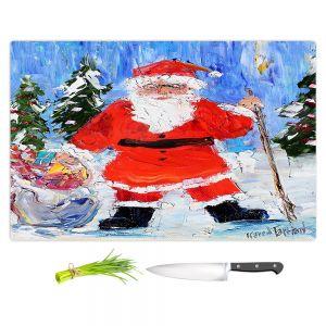 Artistic Kitchen Bar Cutting Boards | Karen Tarlton - Santa 1 | Santa Claus Christmas