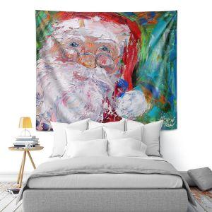 Artistic Wall Tapestry | Karen Tarlton - Santa 2 | Santa Claus Christmas