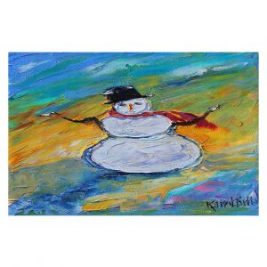 Decorative Floor Covering Mats   Karen Tarlton - Snowman   Winter Snow Christmas