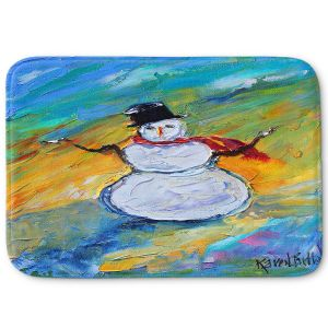 Decorative Bathroom Mats | Karen Tarlton - Snowman | Winter Snow Christmas
