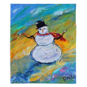 Decorative Fleece Throw Blankets | Karen Tarlton - Snowman | Winter Snow Christmas