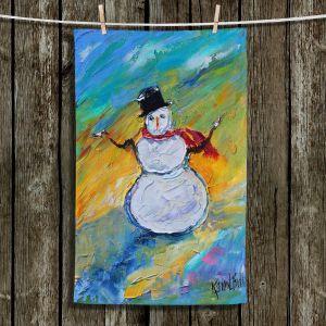 Unique Bathroom Towels   Karen Tarlton - Snowman