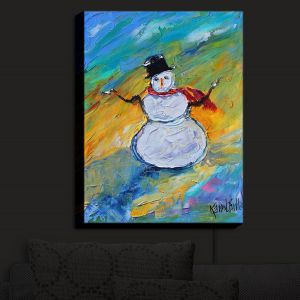 Nightlight Sconce Canvas Light | KarenTarlton - Snowman | Winter Snow Christmas