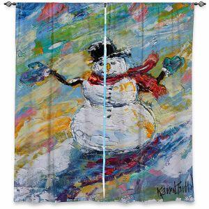 Decorative Window Treatments | Karen Tarlton - Snowman 2 | Snow Weather Christmas Holiday