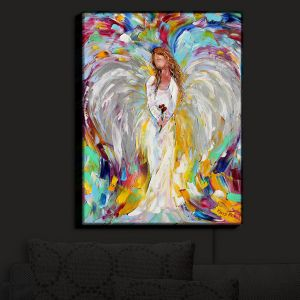 Nightlight Sconce Canvas Light | Karen Tarlton - Spring Angel