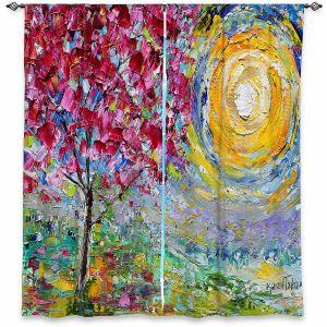 Decorative Window Treatments | Karen Tarlton - Spring Sunrise | Trees Nature Forest Sun