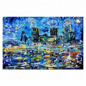 Decorative Floor Coverings | Karen Tarlton Starry Night