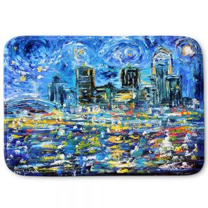Decorative Bathroom Mats | Karen Tarlton - Starry Night