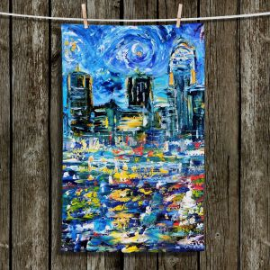 Unique Hanging Tea Towels | Karen Tarlton - Starry Night | City