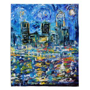 Decorative Fleece Throw Blankets | Karen Tarlton - Starry Night