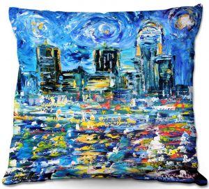 Decorative Outdoor Patio Pillow Cushion   Karen Tarlton - Starry Night