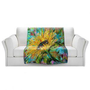 Artistic Sherpa Pile Blankets | Karen Tarlton - Sunflower