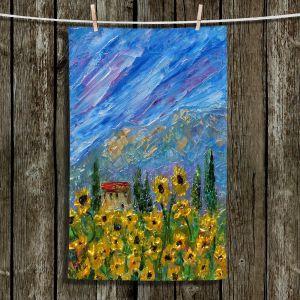 Unique Hanging Tea Towels | Karen Tarlton - Sunflower Dreams | Nature Flowers Farms