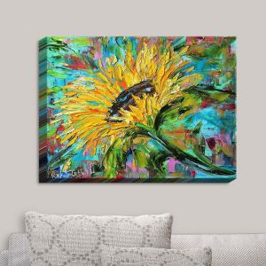 Decorative Canvas Wall Art | Karen Tarlton - Sunflower | Flowers