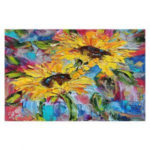 Decorative Floor Coverings | Karen Tarlton - Sunflower Joy