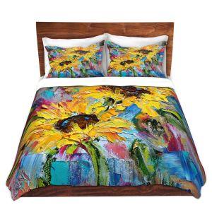 Artistic Duvet Covers and Shams Bedding | Karen Tarlton - Sunflower Joy